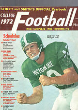 1972 STREET & SMITH COLLEGE FOOTBALL OFFICIAL YEARBOOK-BRAD VAN PELT-MICHIGAN ST