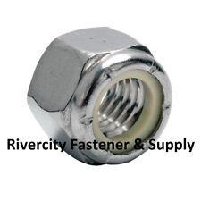 (125) M14-1.5 OR M14 Fine Thread Nylon Insert Lock / Stop Nut Zinc Plated NYLOK