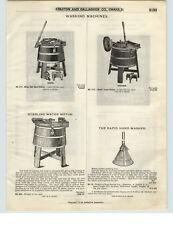 1921 PAPER AD 3 PG Sterling Water Power Motor Washing Machine Wooden Repair Part