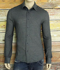NEW Armani Shirt in Navy Size XL 36/37 SLIM Fit Button-Down Long Sleeves