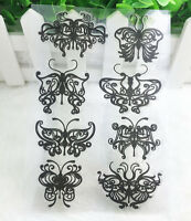 Butterfly Silicone Rubber Clear Stamp Seal Scrapbooking Diary Christmas Card