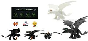How To Train Your Dragon Mini Figures Night Fury Light Fury With Sound FitsLego