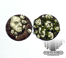 Large Nightmare Face Base Inserts x2 - Resin - Kingdom Death