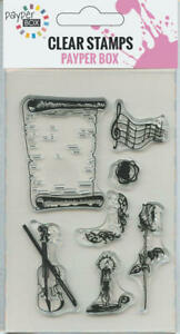 NEW Clear Acrylic Craft Stamp Set Music Room.