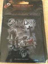 OFFICIAL LICENSED - SIX FEET UNDER - DEAD MEAT SEW-ON PATCH DEATH METAL