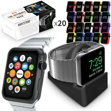 Orzly ® Ultimate Pack pour Apple watch (42mm) inclut 20 faceplate & table de chevet