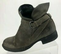 Born Mairead Ankle Boots Brown Suede Casual Shoes Side Zipper Womens Size 8 M
