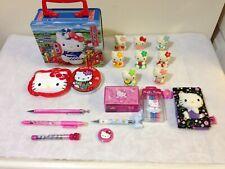 Hello Kitty bundle 19 Items Pens Tin Figures Hair Toggle Mirror Pencil Etc