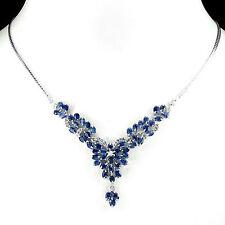 Heating Sapphire Cluster Fine Necklaces & Pendants