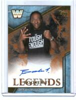 WWE Booker T 2017 Topps Legends Bronze Authentic Autograph Card SN 90 of 99