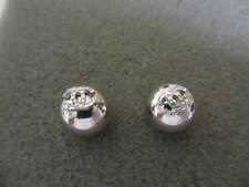 Authentic CHANEL CC pierced earrings (silver ball)