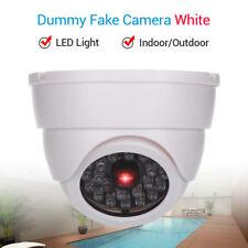 Dummy Fake Dome Camera Security CCTV Realstic LED Light Indoor Imitation Flashed