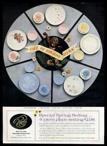 1958 Royalon Melmac Fancy Free Chateau Rose etc plates photo vintage print ad