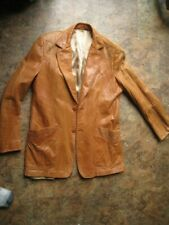 Vintage Mens  Stetson Leather Jacket with nice stitching work