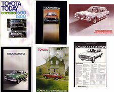 Six 1975-79 TOYOTA RT104 CORONA 1600 1800 & 2000 New Zealand Brochures