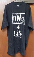 NEW Vintage WCW 1990s NWO 4 Life Wrestling T-Shirt WWE WWF Size Adult XL 42