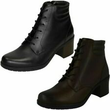Ladies Clarks Casual Lace Up Ankle Boots Hollis Jasmine
