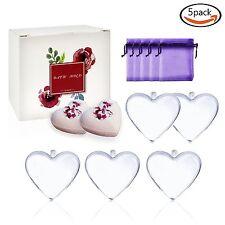 5 Sets Heart-shape Bath Bomb Mold Xmas Ball Ornaments Decoration DIY Craft Mould