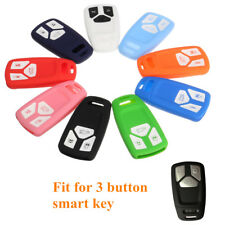 3 Button Silicone Remote Key Fob Cover Case For 2016 2017 Audi TT TTS A4 Q7