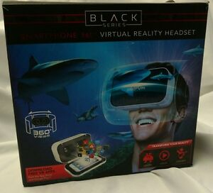 Virtual Reality Headset Black Series Smartphone 360 Degree Hands Free Apps VR