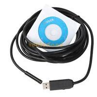2M USB Waterproof Endoscope Borescope Snake Inspection Tube Pipe Camera 4 LED