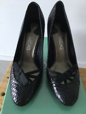 Midas Leather Snake Skin Heels With Bow Size 38 Or 7 AU