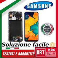 "DISPLAY LCD+TOUCH SCREEN+FRAME SAMSUNG GALAXY A30S SM-A307F 6,4"" VETRO SCHERMO!!"