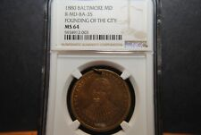 1880 Founding of Baltimore, 150th Anniversary  -  NGC MS64  -  R-?