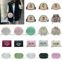 Shoulder Bag Messenger Handbags Women Ladies Girls Straw Crossbody Totes Purse