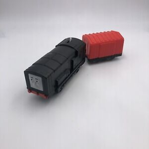 #220 Thomas Trackmaster Diesel Tender Red Boxcar Motorized Train