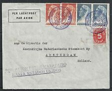 Curacao covers 1937 Airmailcover to Maracaibo and special POSTMARK