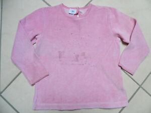 Petit Bateau Schlafanzug / Oberteil   rosa  Gr 110-116  frottee