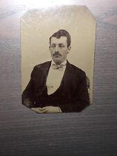 1/6 Plate Tintype Gentlemen Nicely Dressed Bow tie Hairstyle