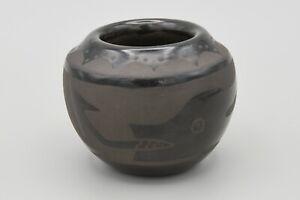 Santa Clara Avanyu Blackware Pot By Celestina Naranjo