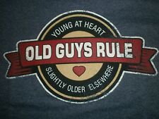 """OLD GUYS RULE """"YOUNG AT HEART  SLIGHTLY OLDER ELSEWHERE""""  NAVY HEATHER  S/S  L"""