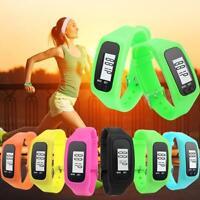 Digital LCD Pedometer Run Step Walking Distance Calorie Counter Watch HOT