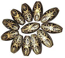 12 x Large Acrylic Antique Bronze Beads Jewellery Making Crafts
