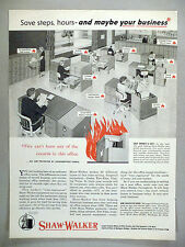 Shaw-Walker Fireproof Office Furniture & Filing Equipment PRINT AD - 1955