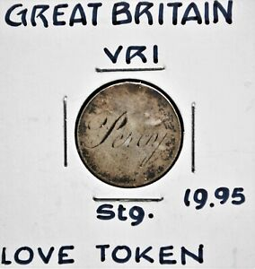 'Percy' Victorian Love Token on 6 Pence coin