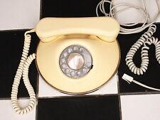 Vintage Phone Retro 1960s Round Cream Ivory white dial Telephone Made in U.K.