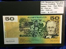 1973 Australian Fifty Dollar Notes Uncl, Phillips/Wheeler First Prefix YAA