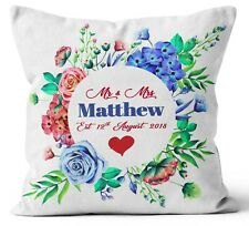 Personalised Any Text Name Cushion Floral Design Mothers Day Wedding Gift 70