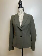 The Limited Perfect Travel Suit Womens Jacket Olive Green Pinstripe Size 4
