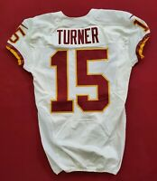 #15 Turner of Washington Redskins NFL Game Issued Player Worn Jersey