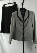 Evan Picone NWT Sz 12 Ivory & Black Herringbone Work Church Skirt Suit Org $200