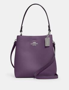 New Coach Small Town Bucket Handbag 1011 SV/Dark Amethyst