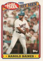 1990 Topps Hills Hit Men Baseball #30 Harold Baines Texas Rangers
