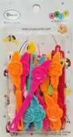 Yours Barrettes Hair MULTI-COLOR Roses Flowers Girls Toddler Snap Pin Clip 20 Pc