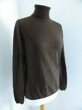 Feldpausch Cashmere classic brown roll neck jumper M 10 12 VGC