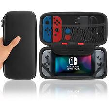 Nintendo Switch Tasche Hard Case Reiseetui Box Schutzhülle Staubdicht in schwarz